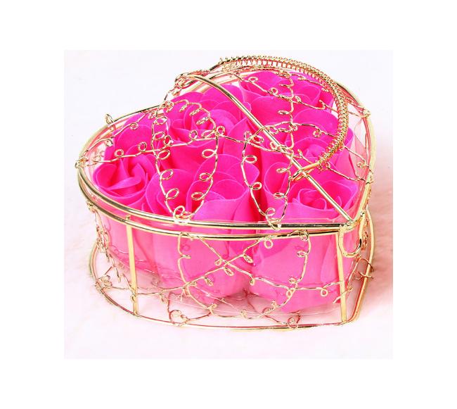 Boîte-cadeau en fleur rose...