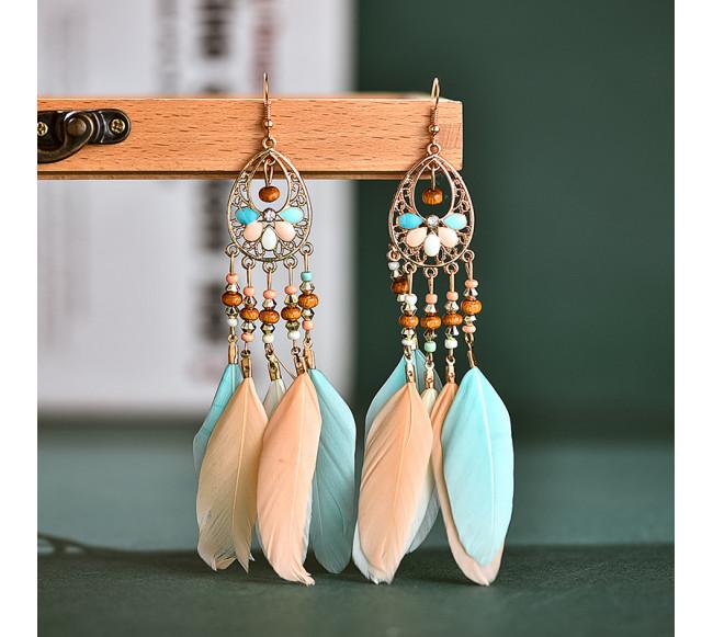 Boucles D'oreilles en plume