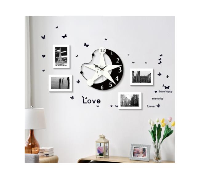 Horloge murale créative en...