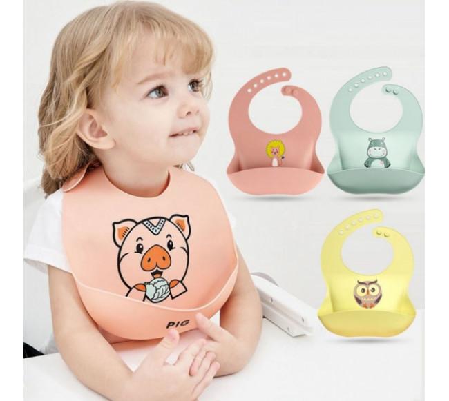 Bavoir en silicone pour bébé