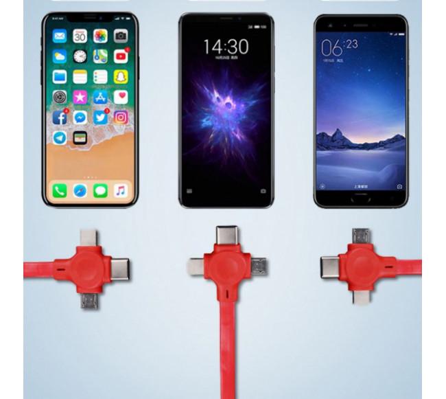 Câble de chargeur trois-en-un